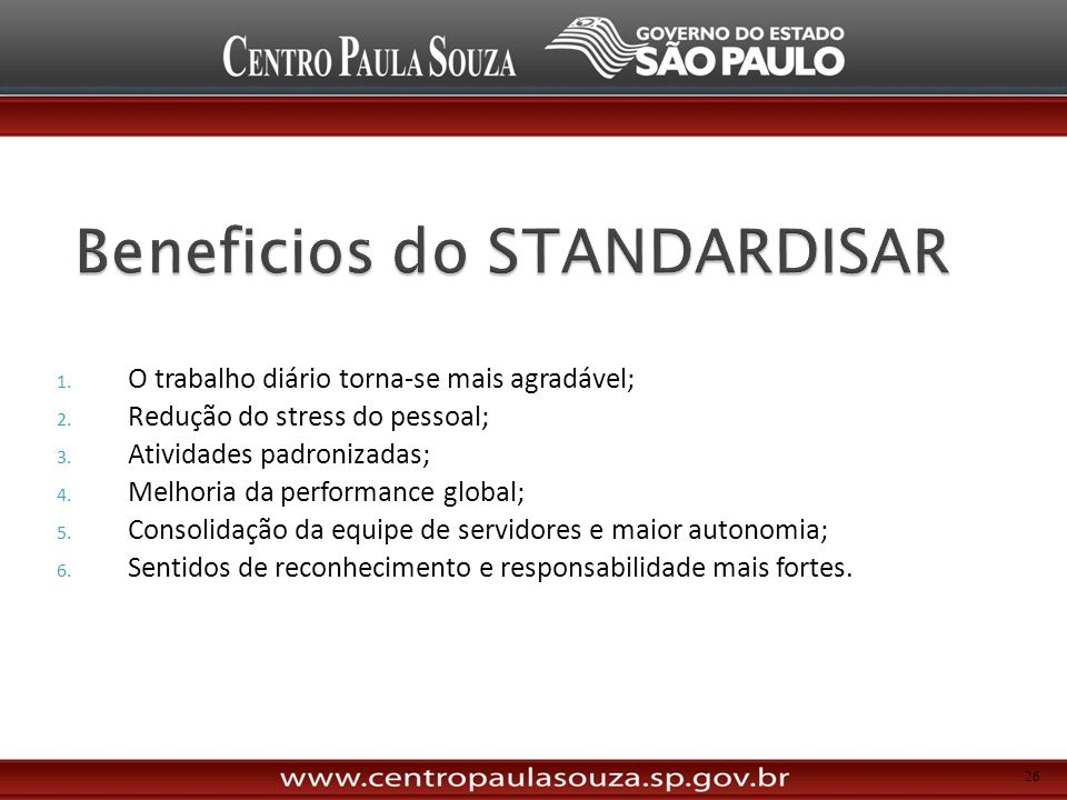 Beneficios do STANDARDISAR