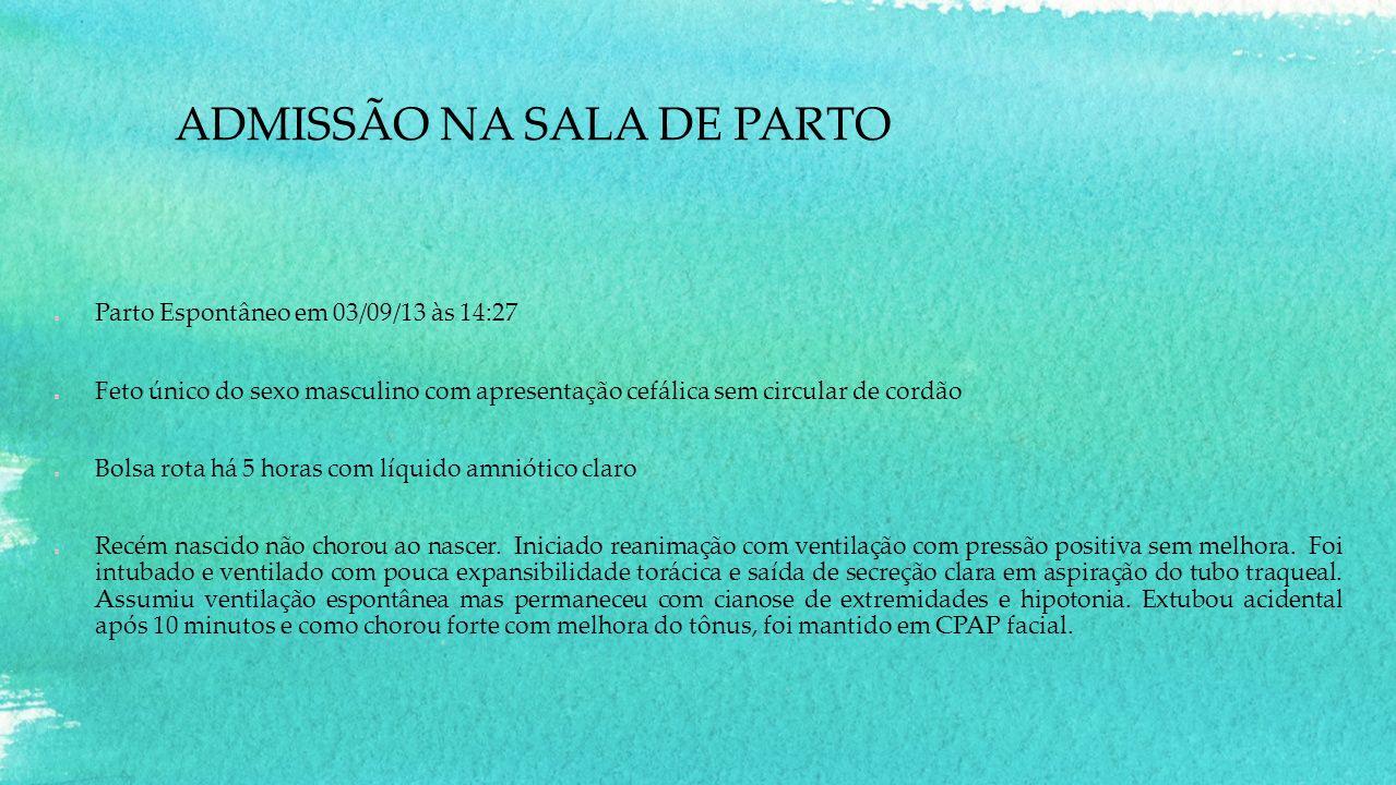 ADMISSÃO NA SALA DE PARTO