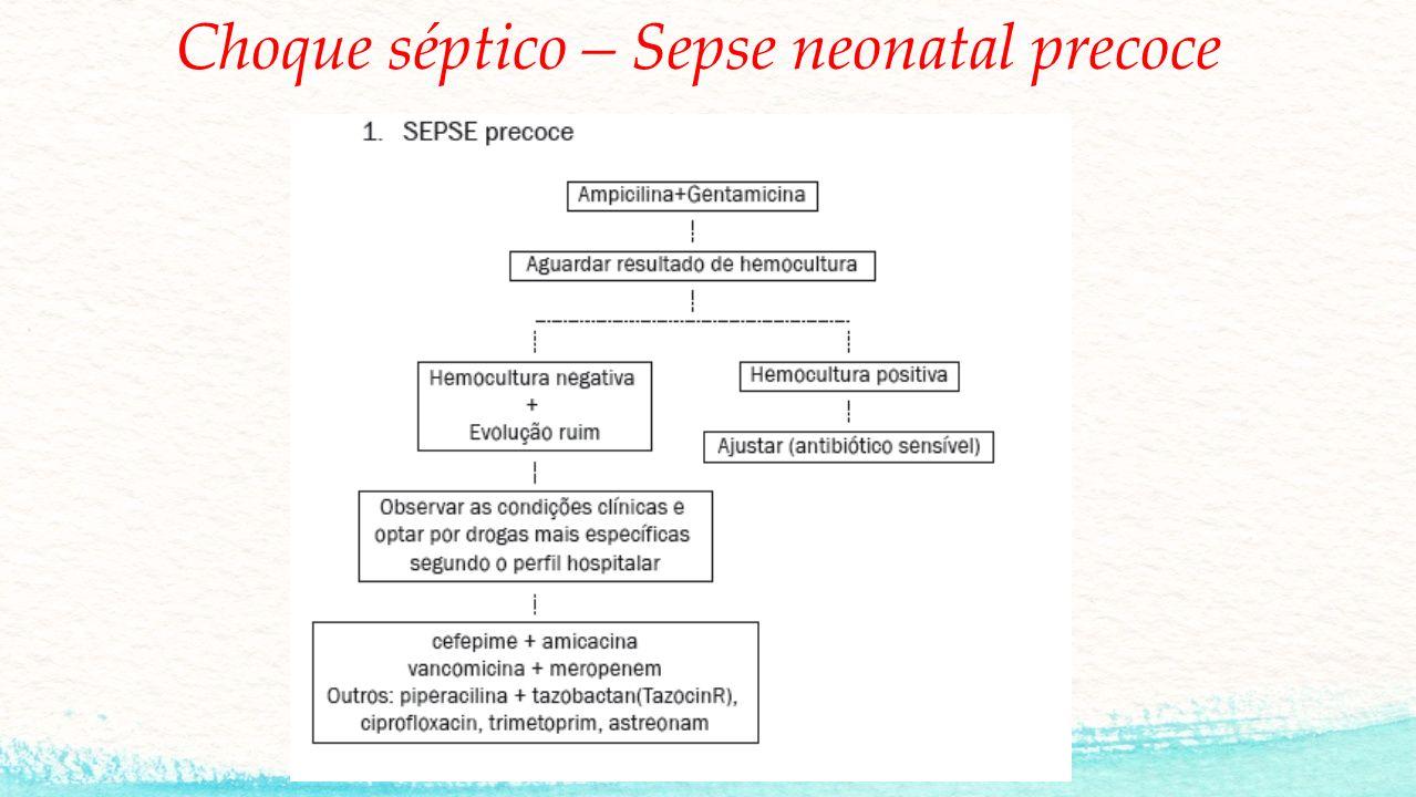Choque séptico – Sepse neonatal precoce