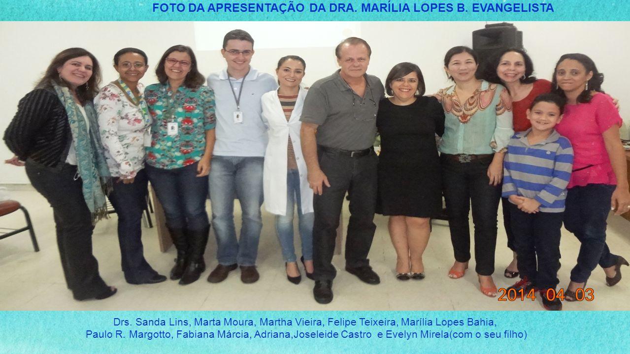 FOTO DA APRESENTAÇÃO DA DRA. MARÍLIA LOPES B. EVANGELISTA