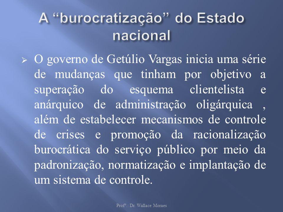 A burocratização do Estado nacional