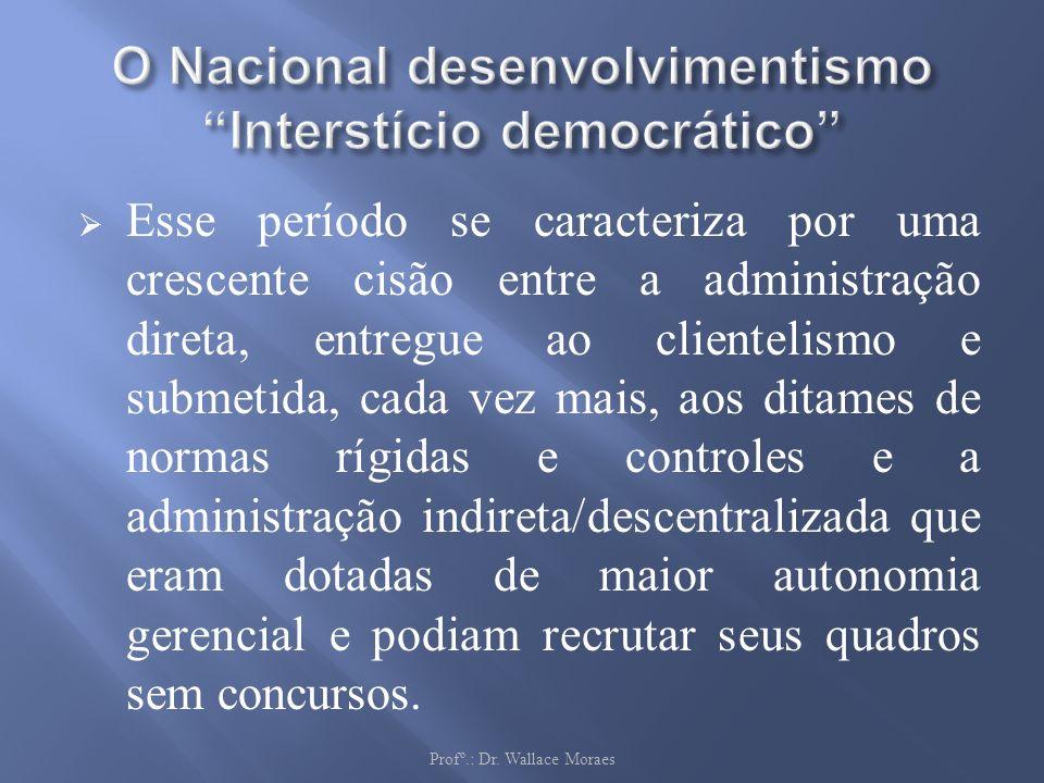 O Nacional desenvolvimentismo Interstício democrático