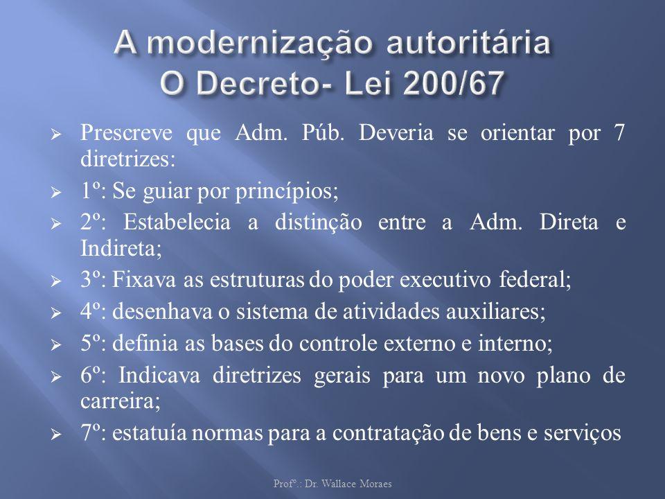 A modernização autoritária O Decreto- Lei 200/67