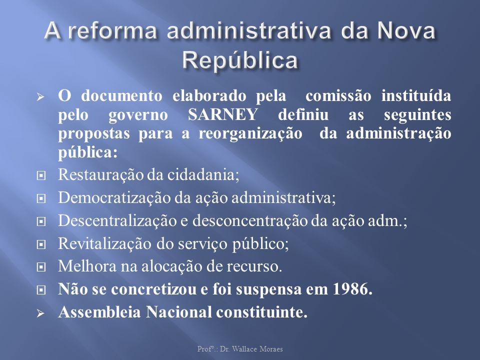 A reforma administrativa da Nova República