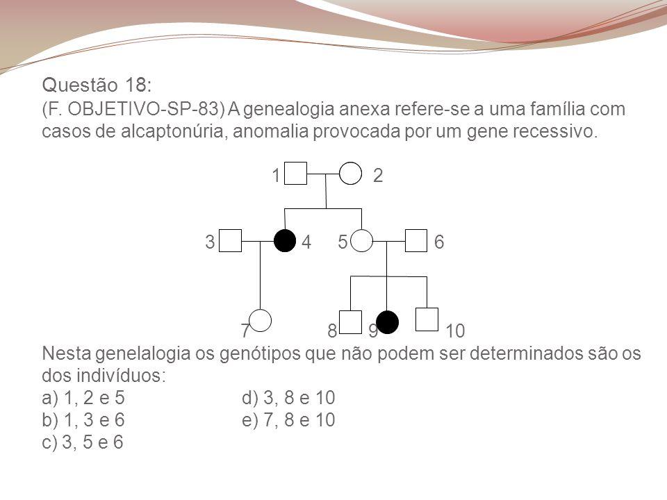 Questão 18: (F.