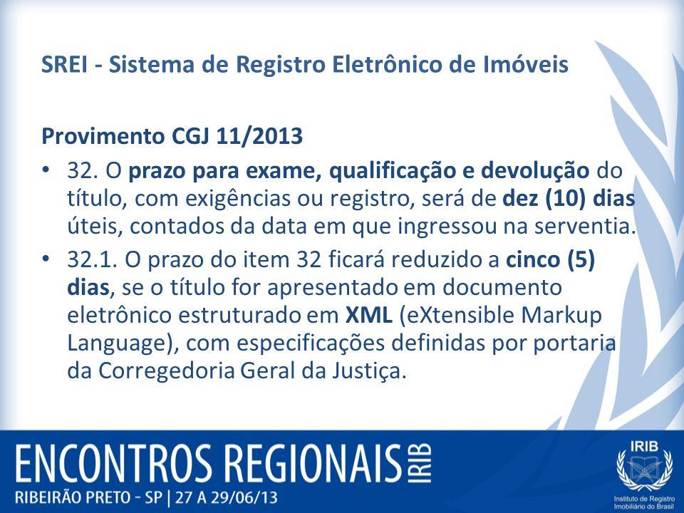 SREI - Sistema de Registro Eletrônico de Imóveis