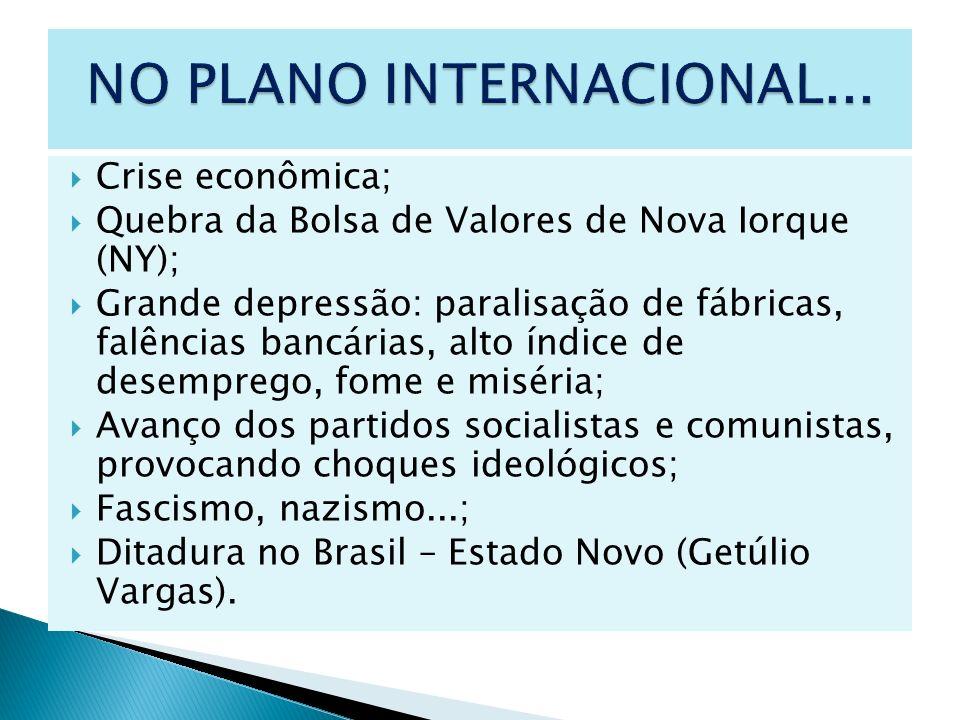 NO PLANO INTERNACIONAL...