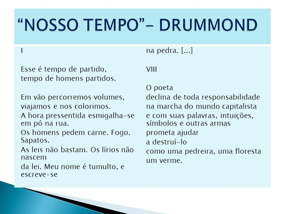 NOSSO TEMPO - DRUMMOND