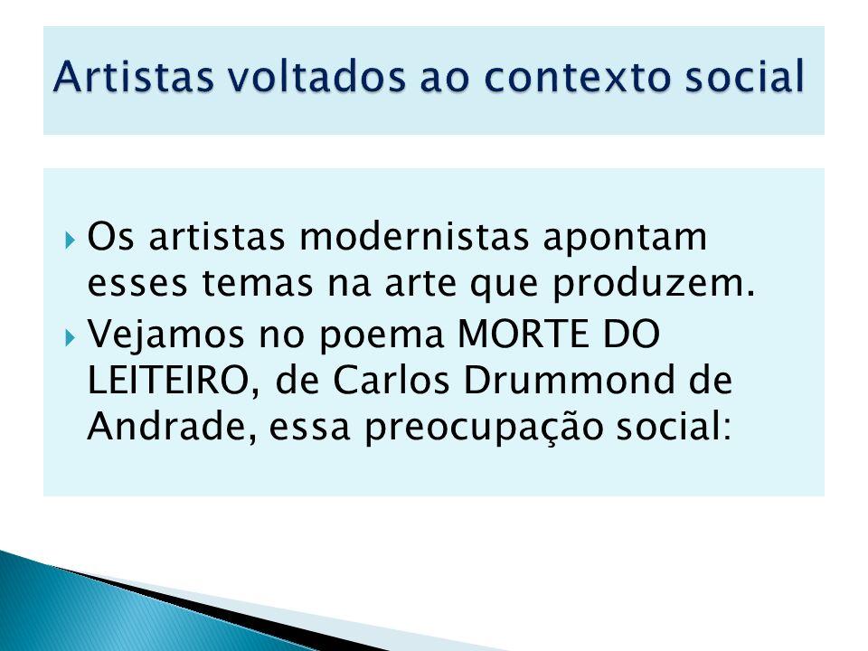 Artistas voltados ao contexto social