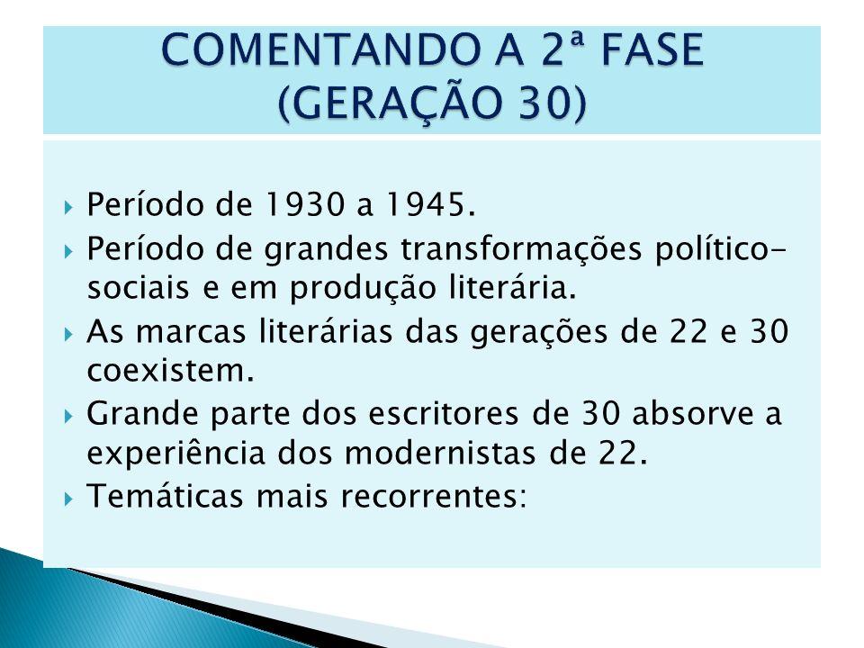 COMENTANDO A 2ª FASE (GERAÇÃO 30)