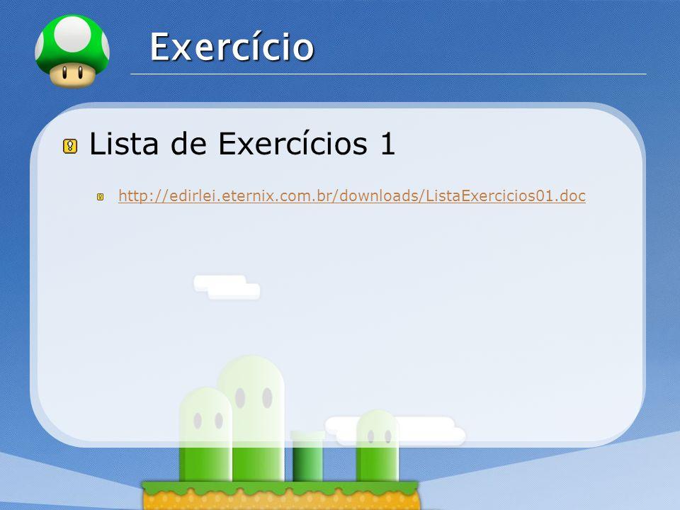 Exercício Lista de Exercícios 1
