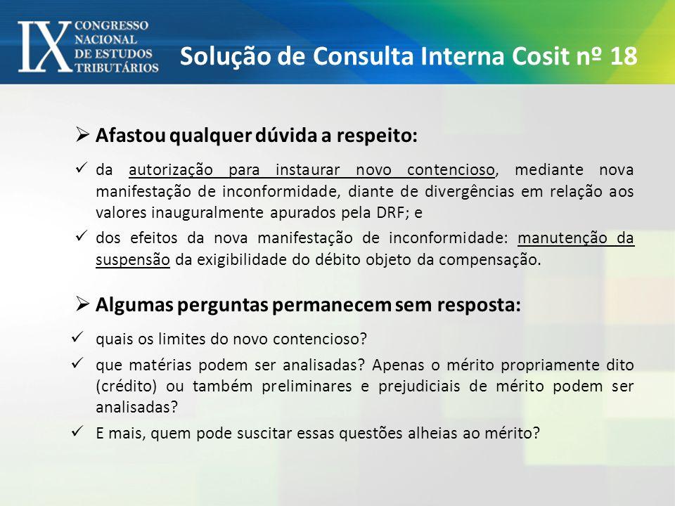 Solução de Consulta Interna Cosit nº 18