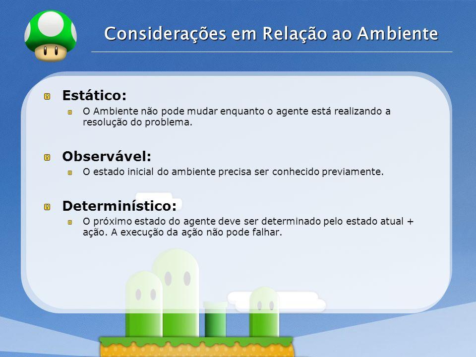 Considerações em Relação ao Ambiente