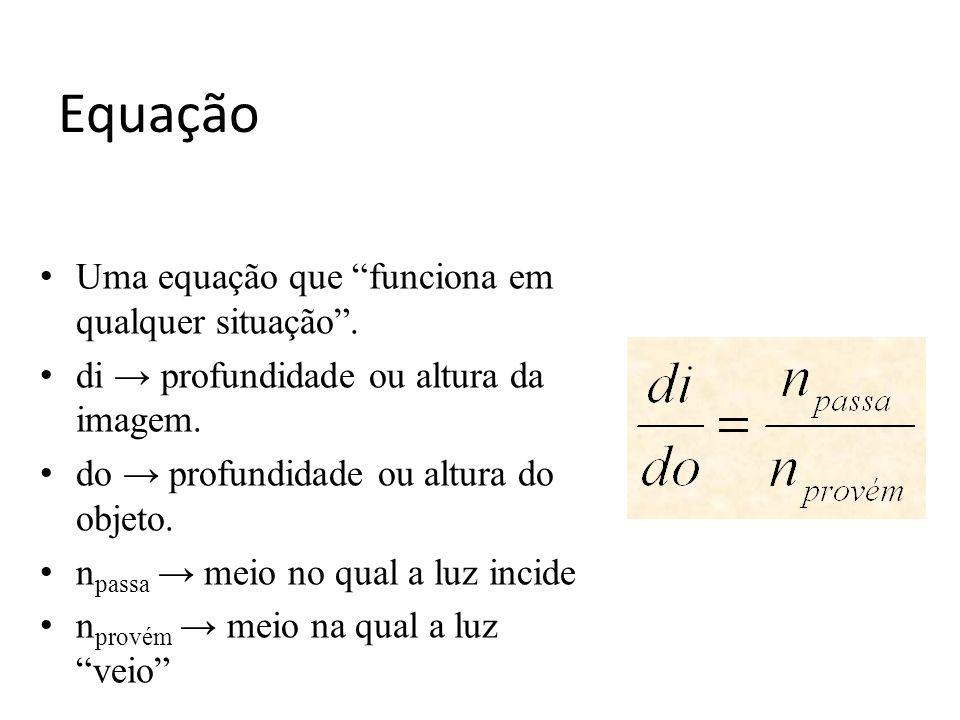 Equação Uma equação que funciona em qualquer situação .
