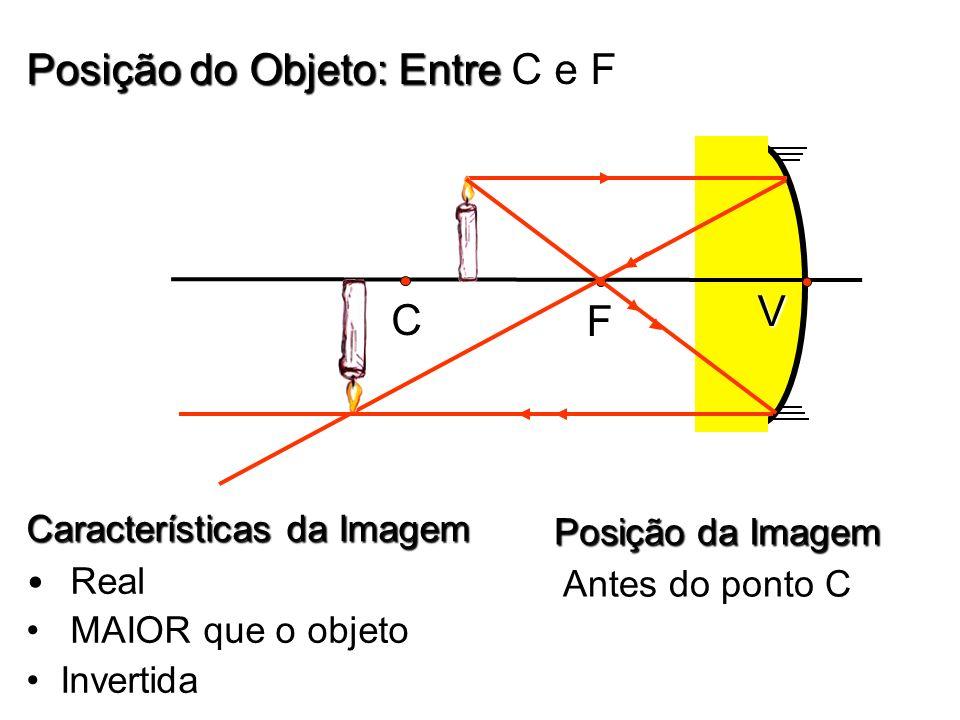 Posição do Objeto: Entre C e F