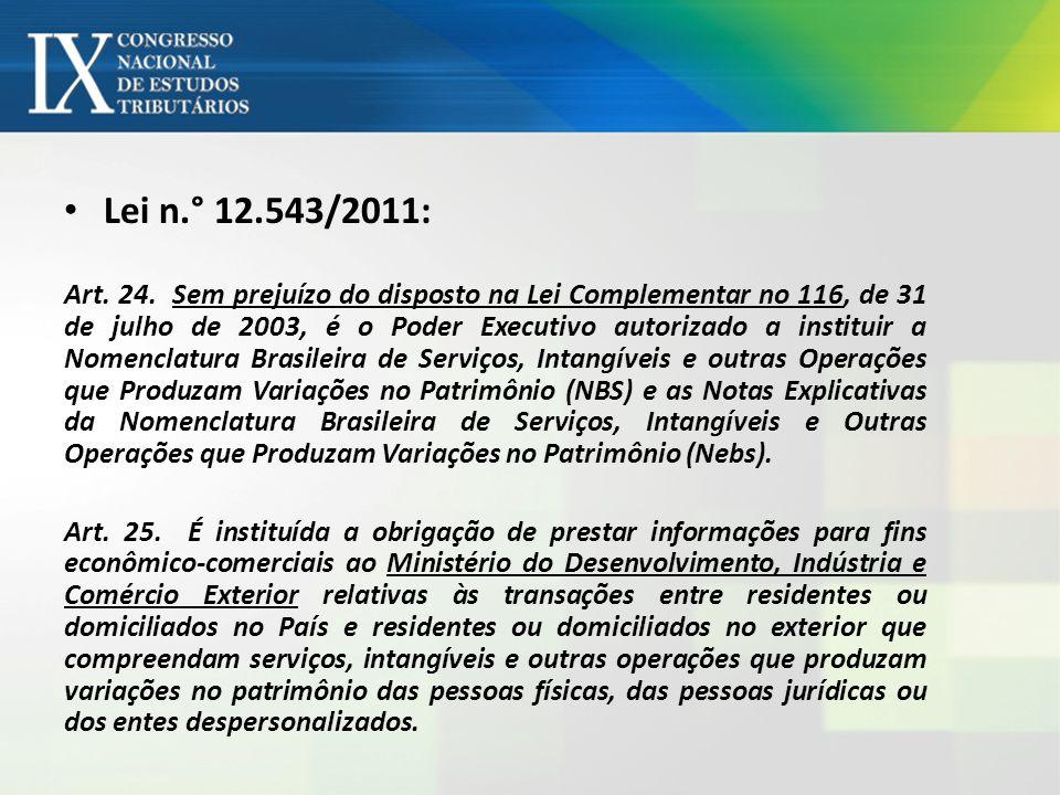 Lei n.° 12.543/2011: