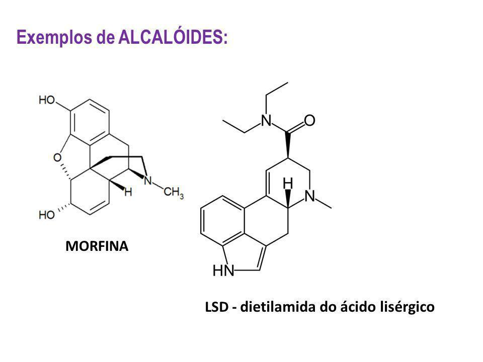 Exemplos de ALCALÓIDES: