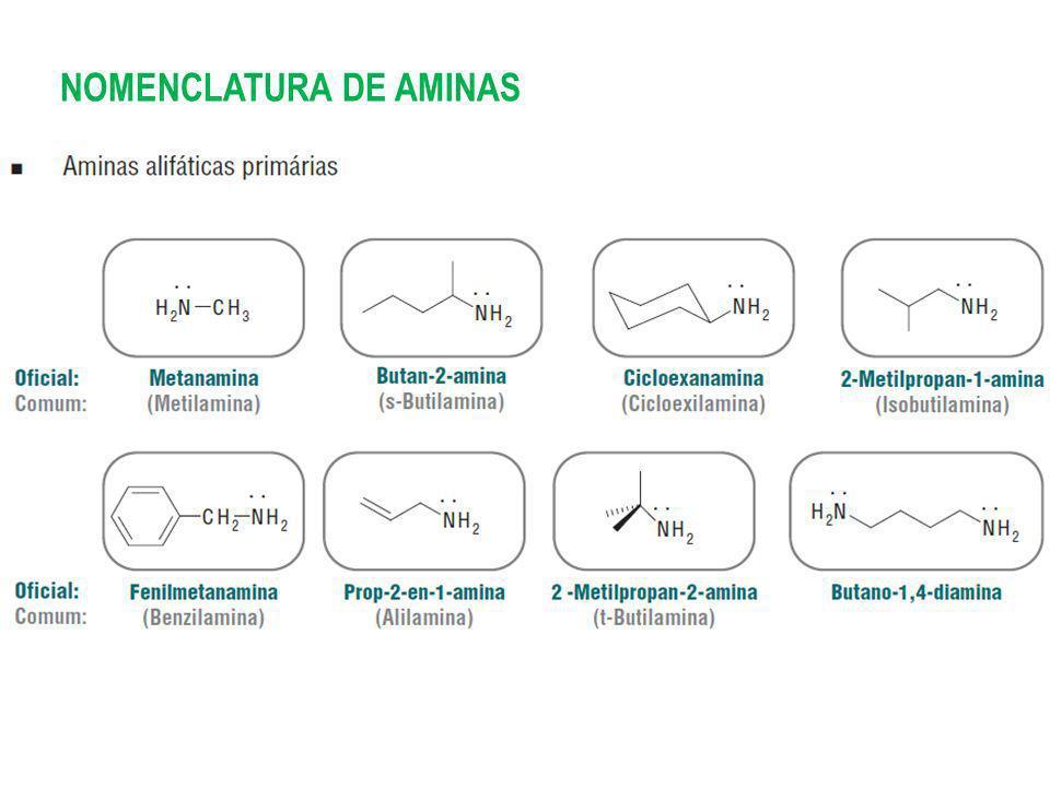 NOMENCLATURA DE AMINAS