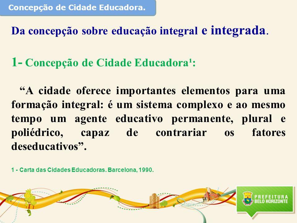 Concepção de Cidade Educadora.