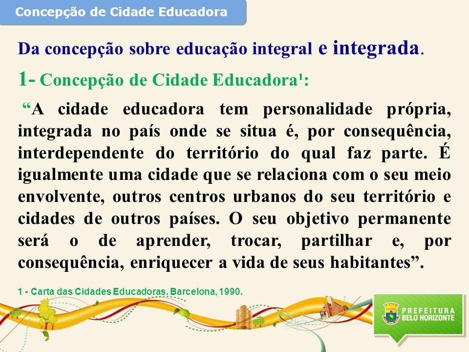 Concepção de Cidade Educadora