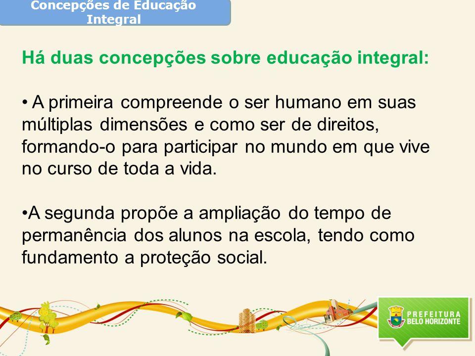 Concepções de Educação Integral