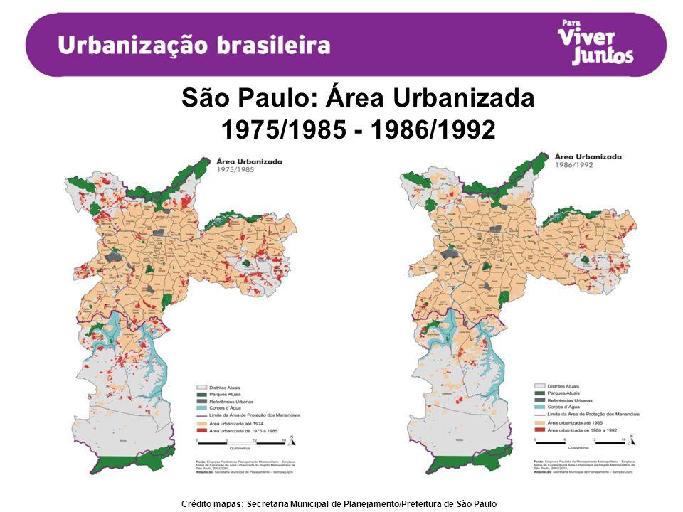 São Paulo: Área Urbanizada
