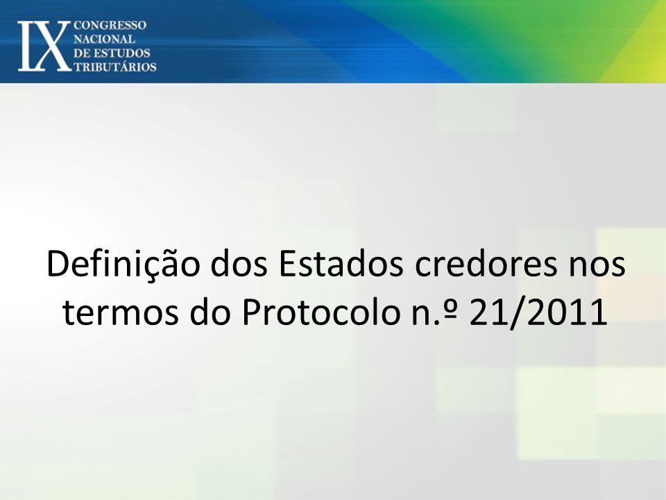 Definição dos Estados credores nos termos do Protocolo n.º 21/2011