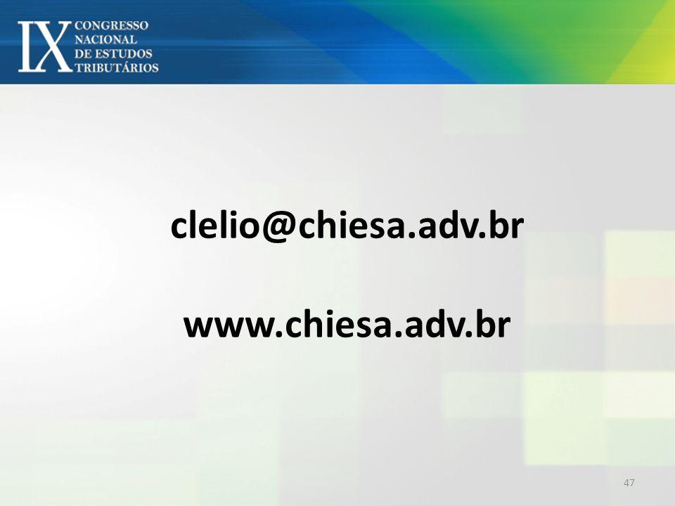 clelio@chiesa.adv.br www.chiesa.adv.br