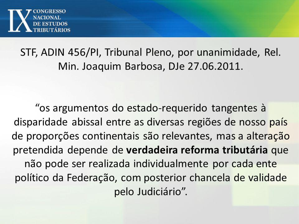 STF, ADIN 456/PI, Tribunal Pleno, por unanimidade, Rel. Min