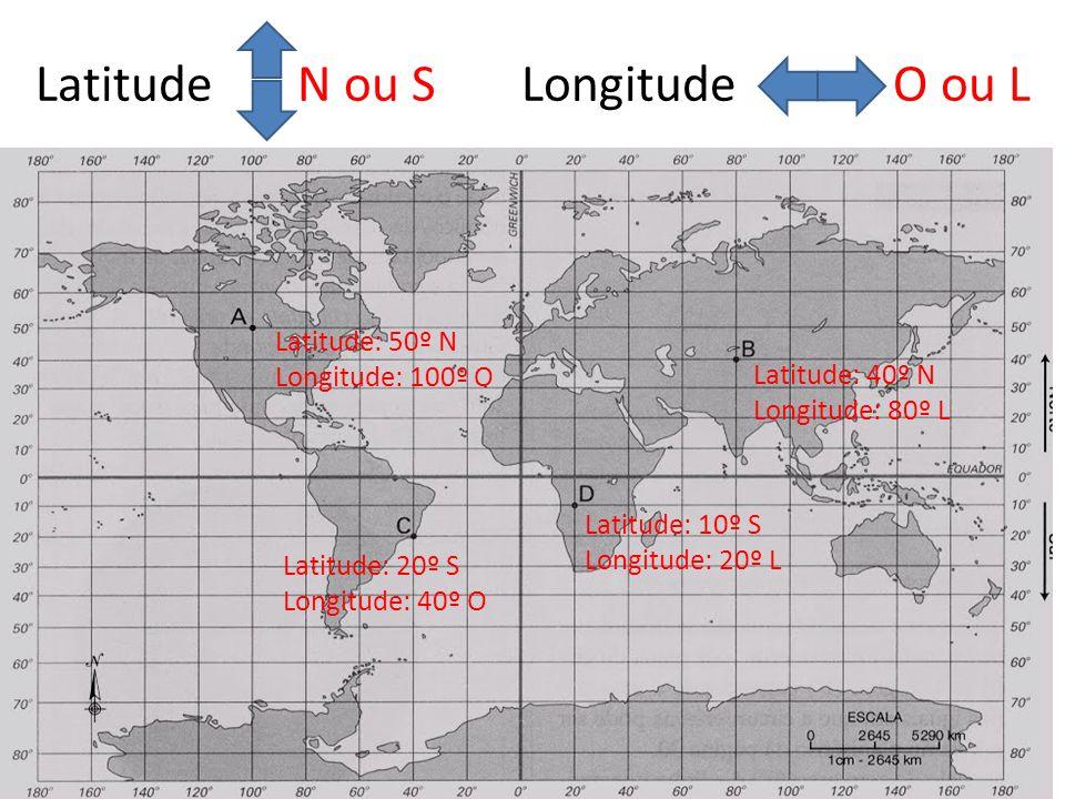 Latitude N ou S Longitude O ou L