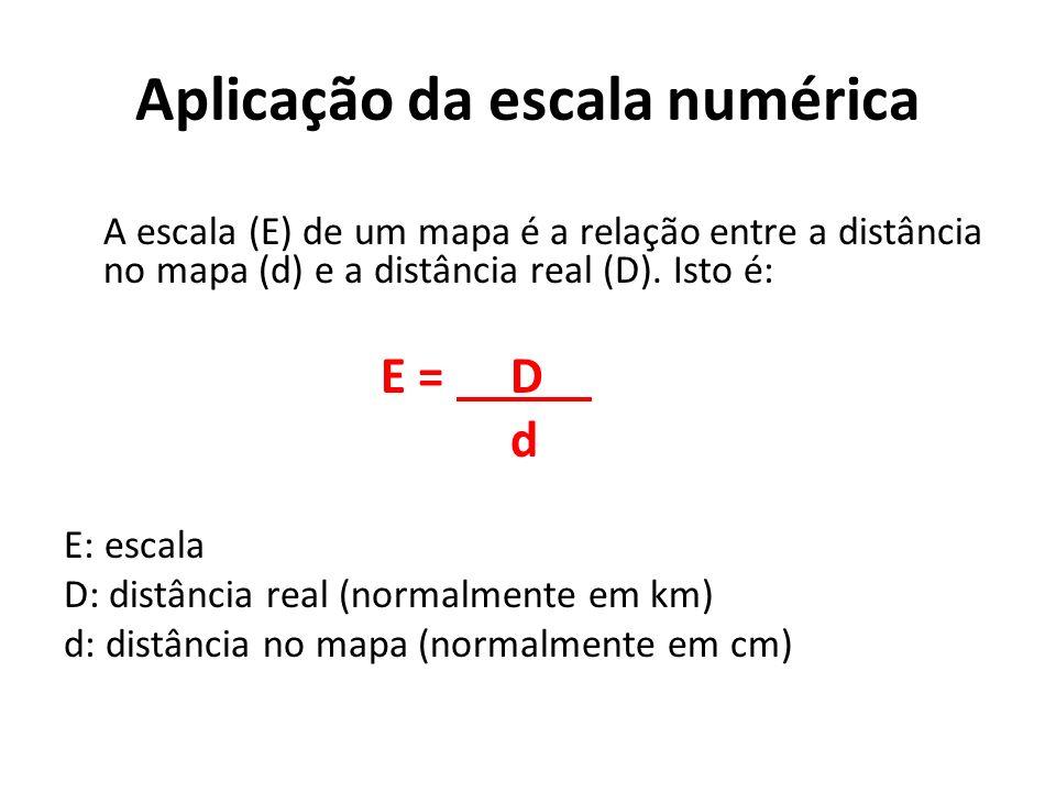 Aplicação da escala numérica