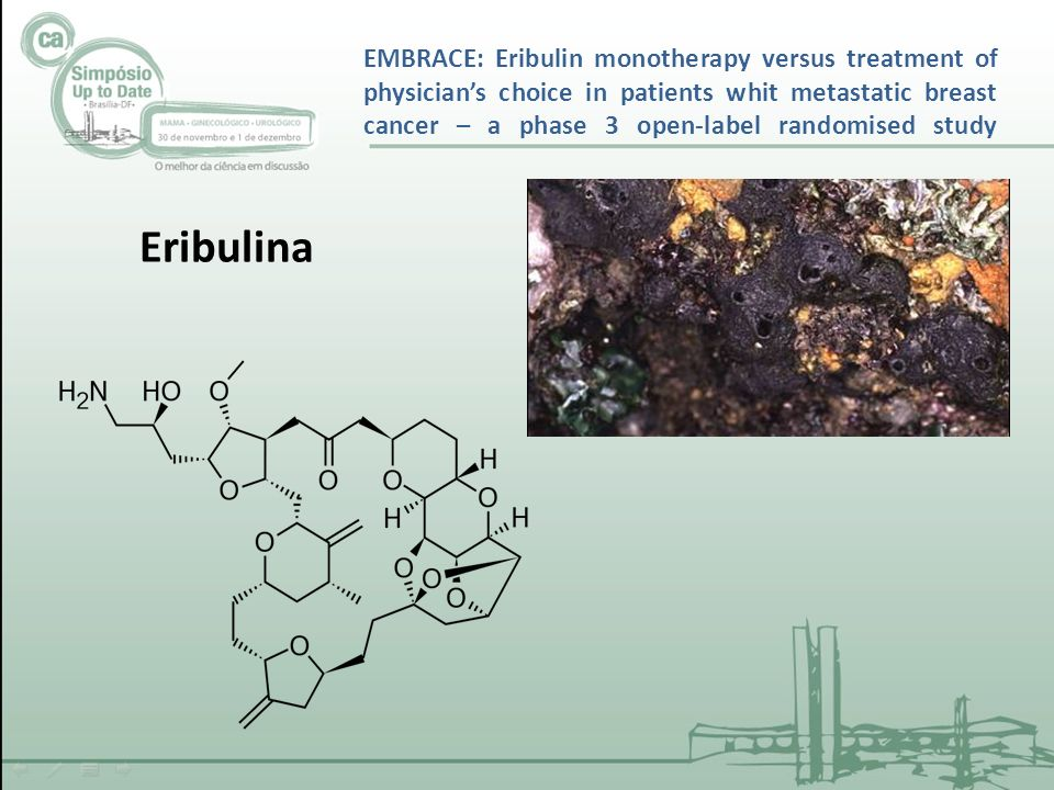 EMBRACE: Eribulin monotherapy versus treatment of physician's choice in patients whit metastatic breast cancer – a phase 3 open-label randomised study