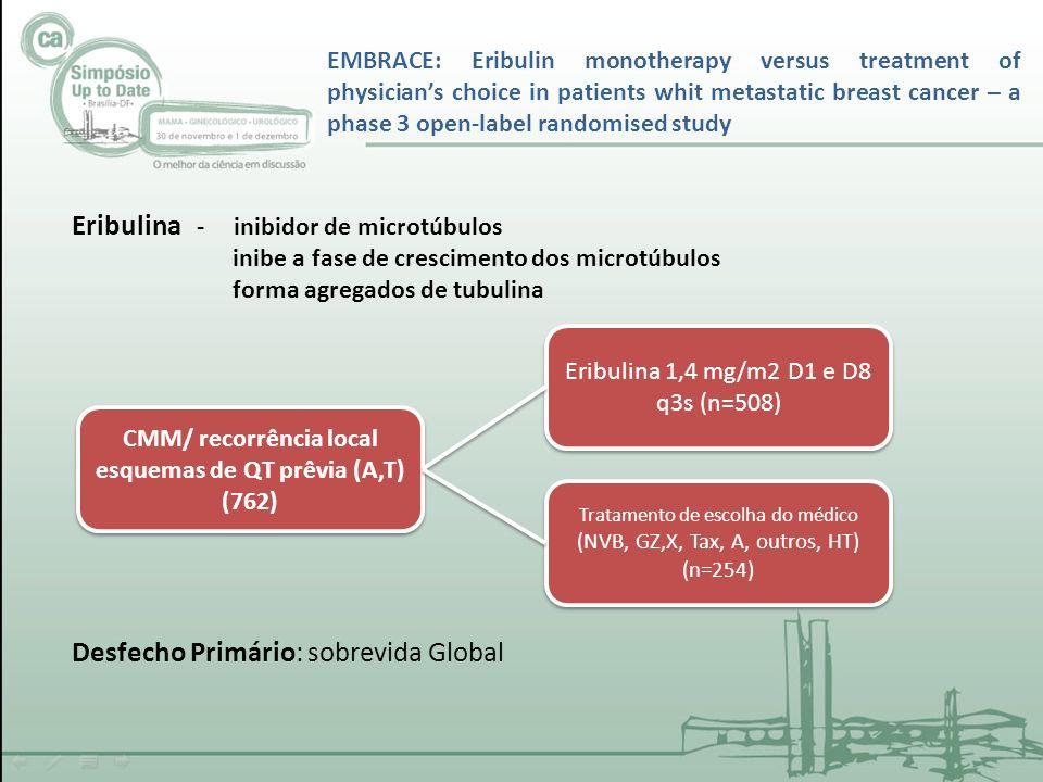 CMM/ recorrência local esquemas de QT prêvia (A,T)