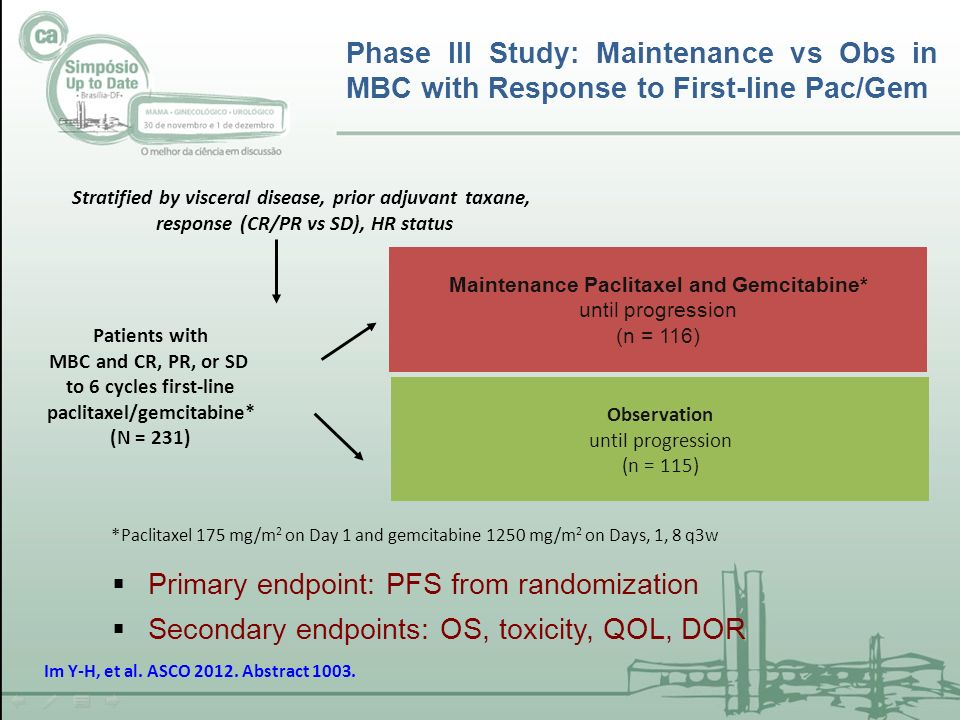 Primary endpoint: PFS from randomization