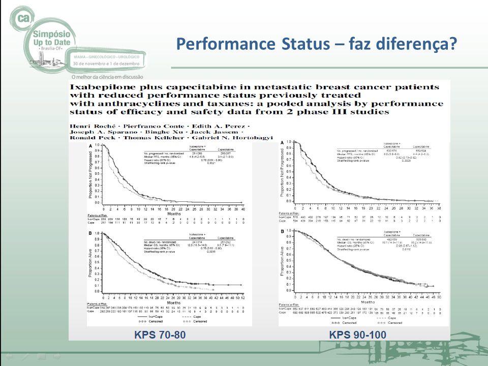 Performance Status – faz diferença