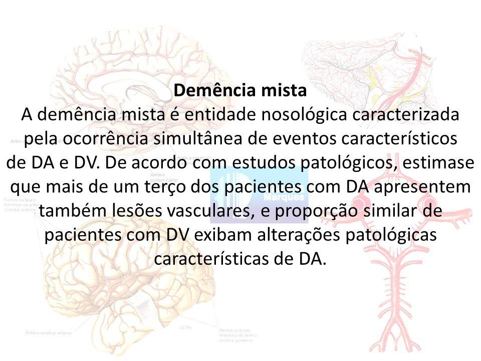 A demência mista é entidade nosológica caracterizada