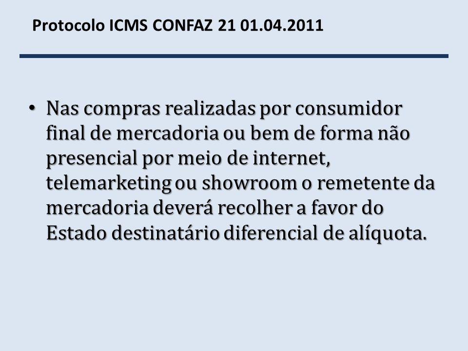 Protocolo ICMS CONFAZ 21 01.04.2011