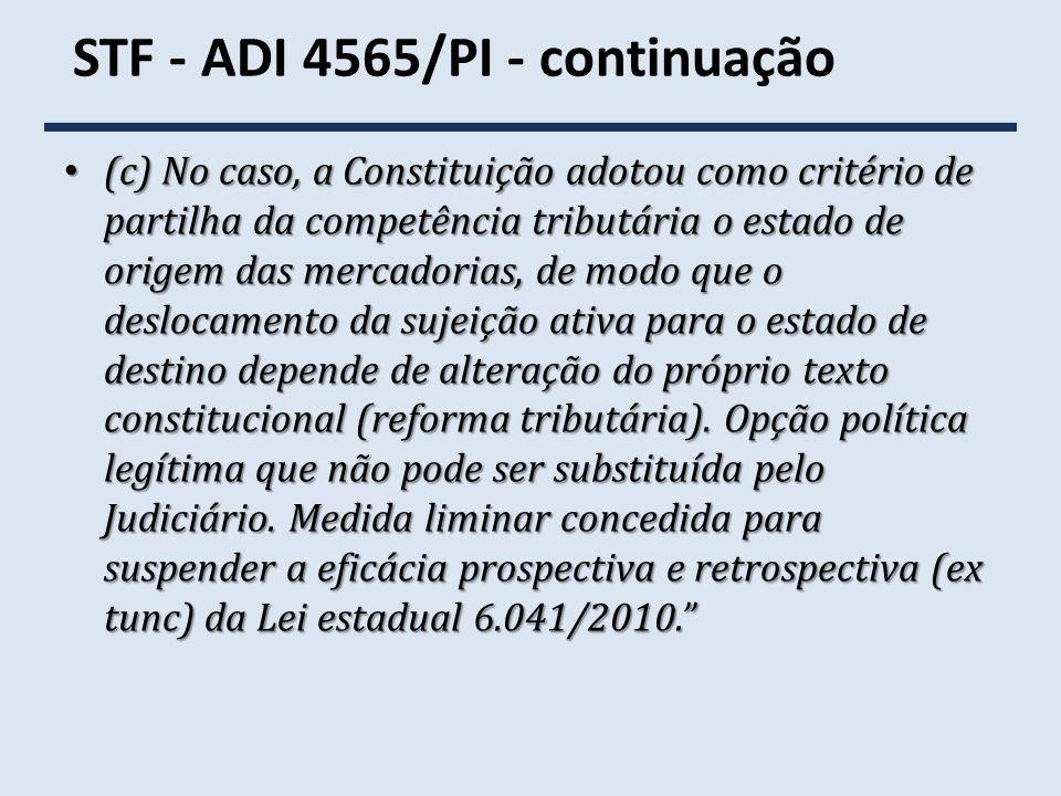 STF - ADI 4565/PI - continuação