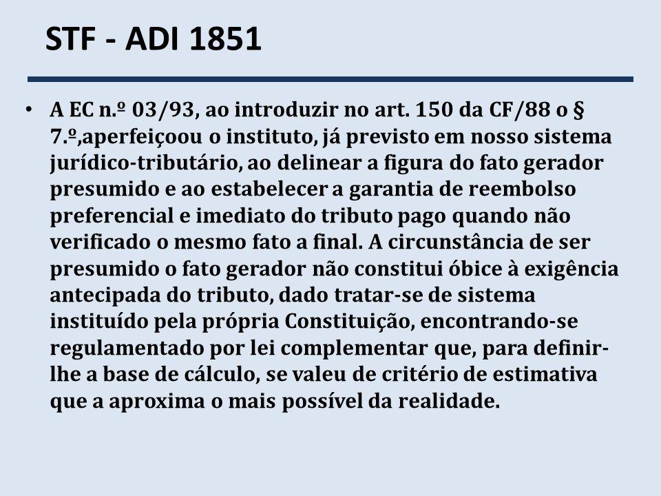 STF - ADI 1851