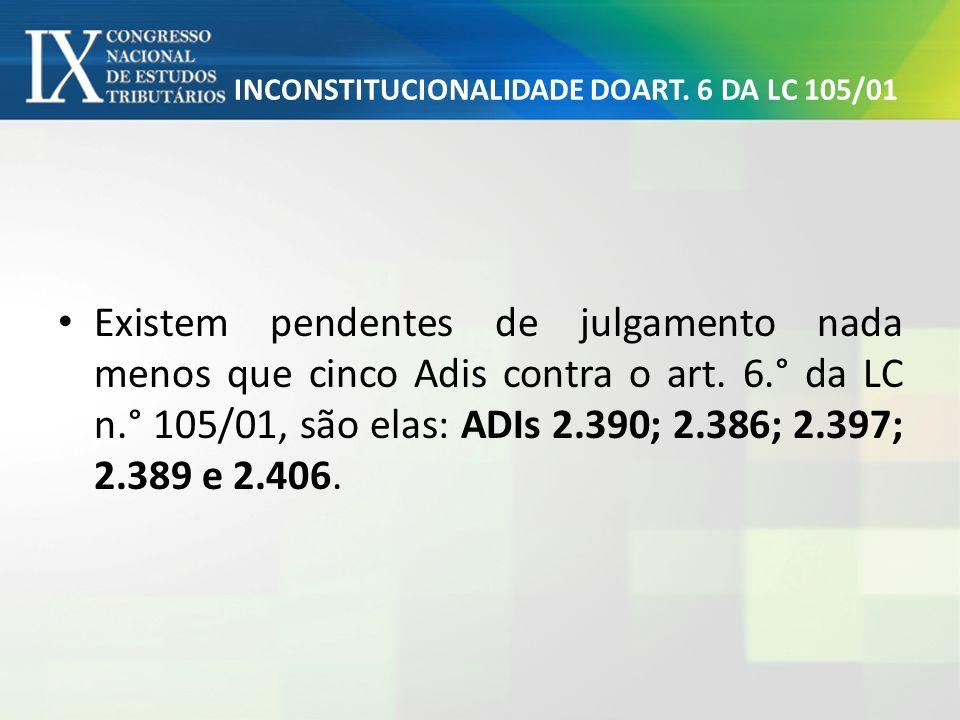 INCONSTITUCIONALIDADE DOART. 6 DA LC 105/01