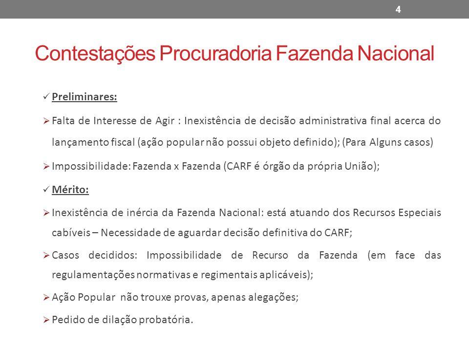Contestações Procuradoria Fazenda Nacional
