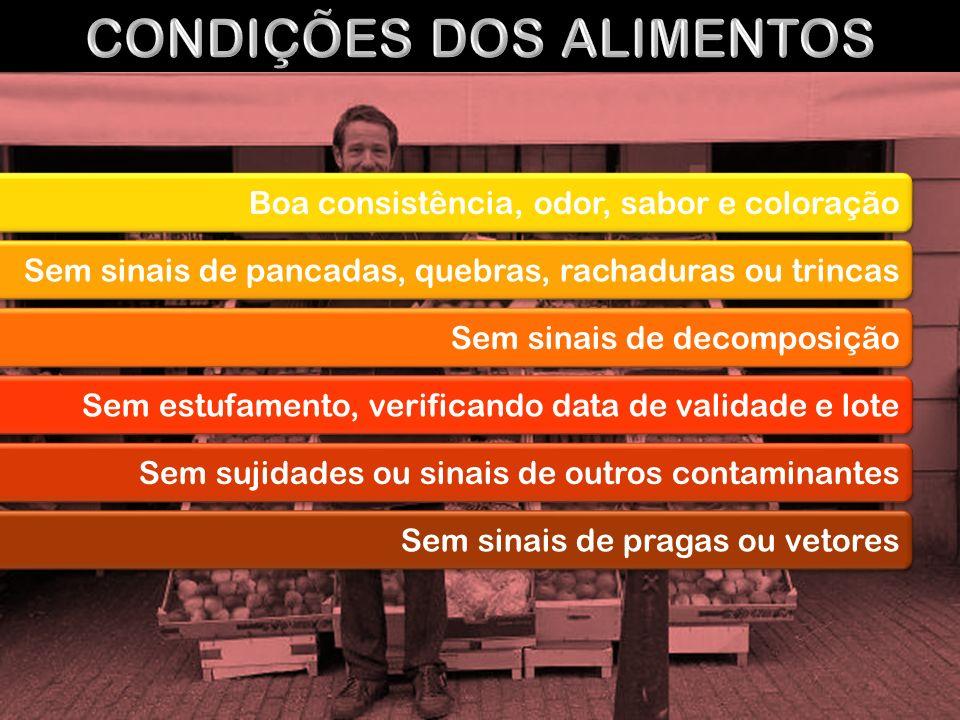 CONDIÇÕES DOS ALIMENTOS