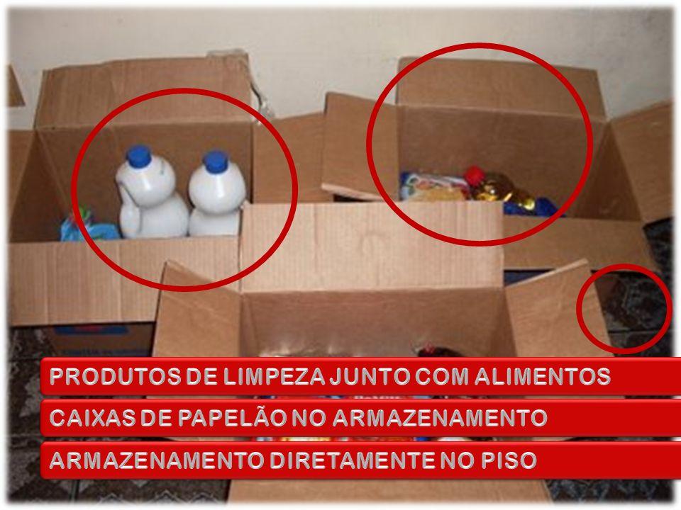 PRODUTOS DE LIMPEZA JUNTO COM ALIMENTOS
