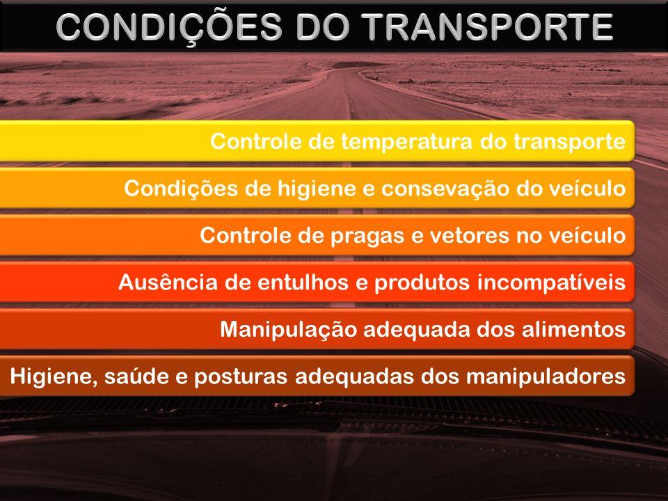 CONDIÇÕES DO TRANSPORTE