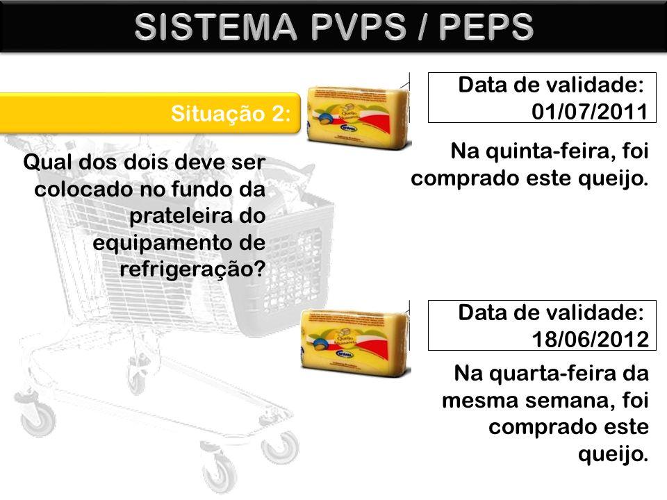 SISTEMA PVPS / PEPS Data de validade: 01/07/2011 Situação 2: