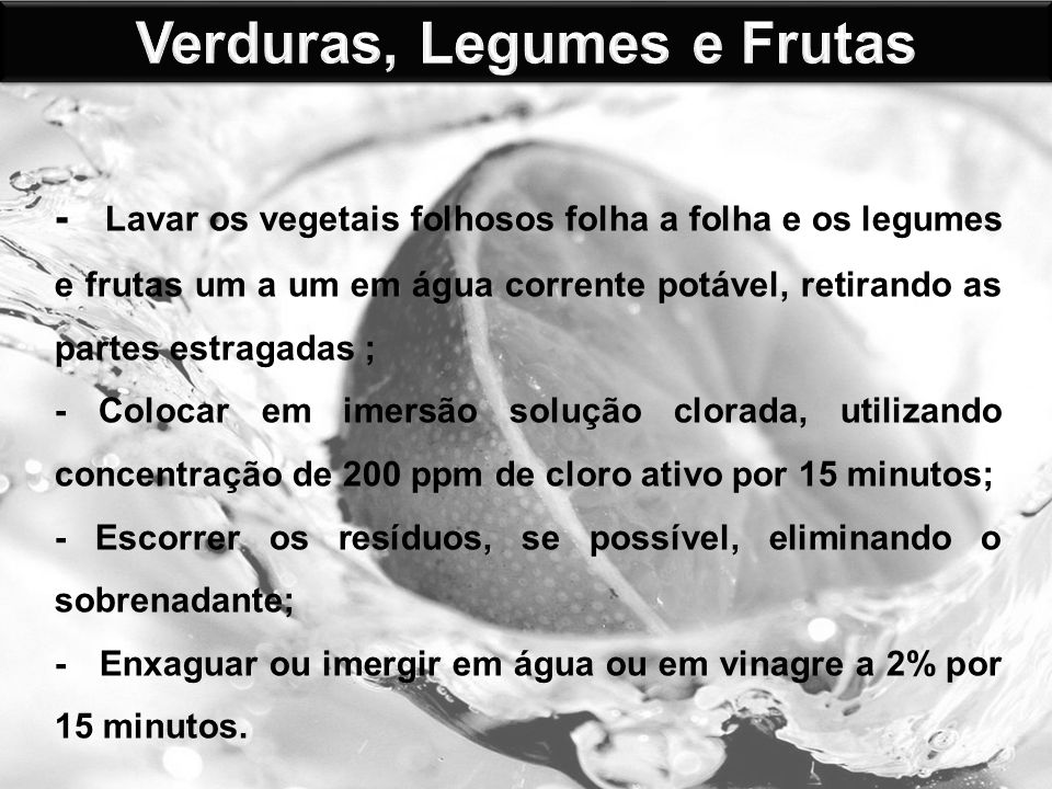 Verduras, Legumes e Frutas