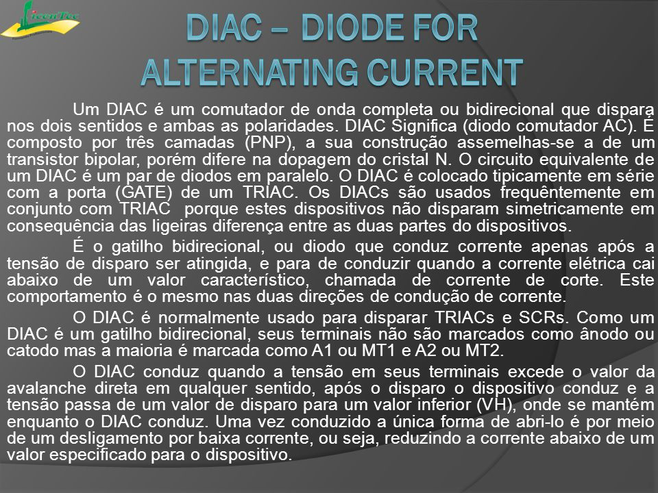 DIAC – diode for alternating current