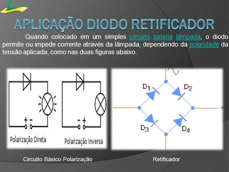 Aplicação diodo retificador