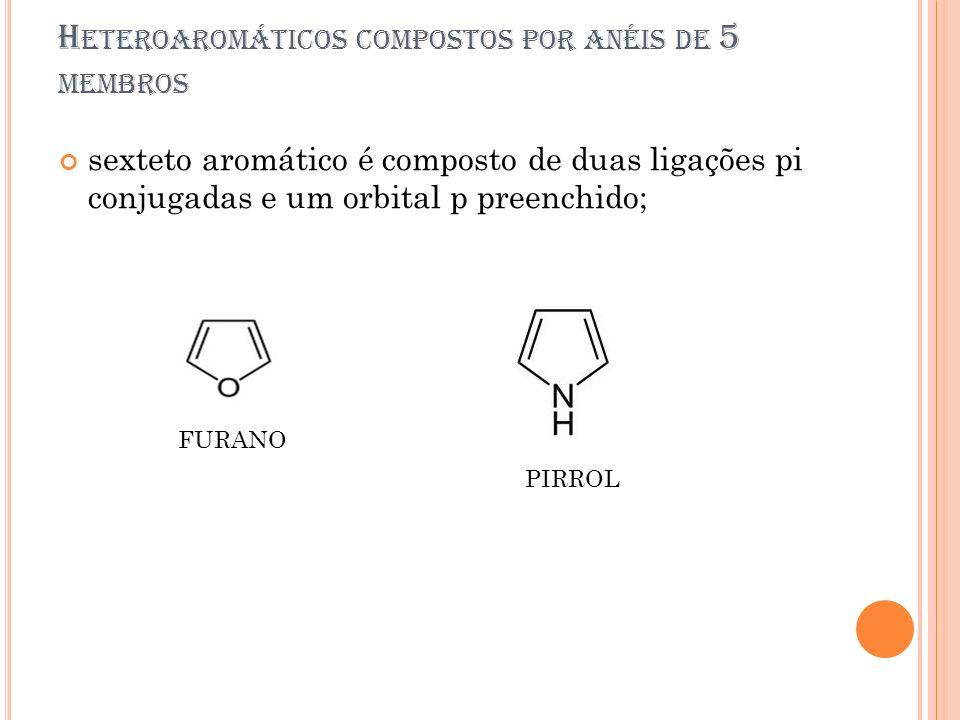 Heteroaromáticos compostos por anéis de 5 membros