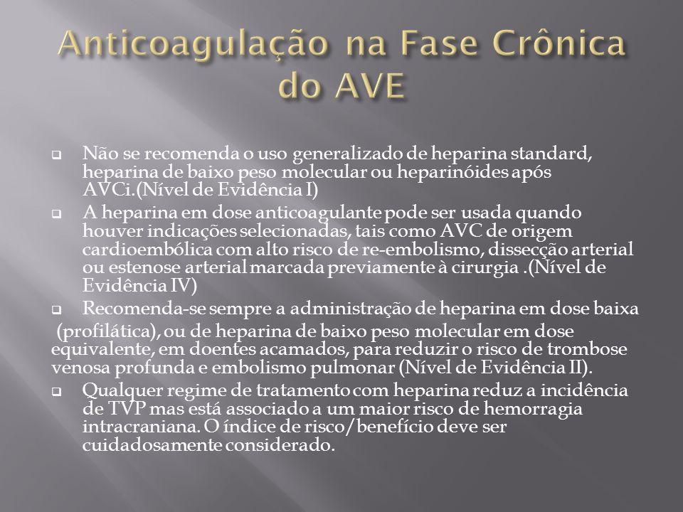 Anticoagulação na Fase Crônica do AVE